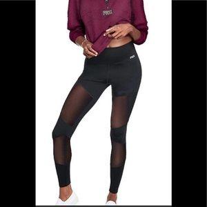 Victoria Secret Pink Mesh Bonded Leggings